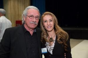 Edward James Olmos and Erika Camacho