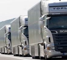 workshop photo of trucks